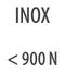 INOX < 900 N/mm²