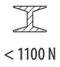 сталь < 1100 Н/мм²