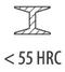 сталь < 55 HRC