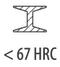 сталь < 67 HRC