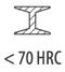 сталь < 70 HRC