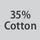 Fabric composition 35% cotton