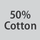 Fabric composition 50% cotton