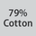 Fabric composition 79% cotton