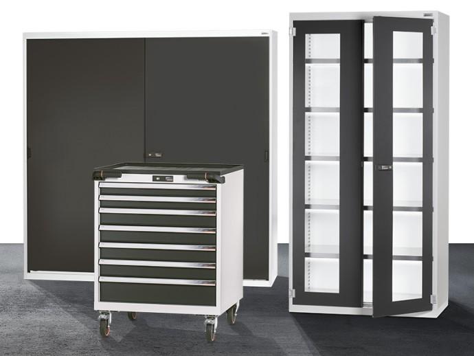 Jeerbly Banco de trabajo de acero para garaje con cajones y 12 clavijas resistente estaci/ón de taller color gris capacidad de 440 kg
