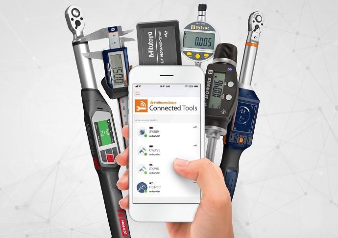 Hoffmann Group Connected Tools (HCT)-platformen er kompatibel med Bluetooth-aktiveret værktøj fra Mitutoyo, Bowers Group, Sylvac, GARANT og HOLEX.