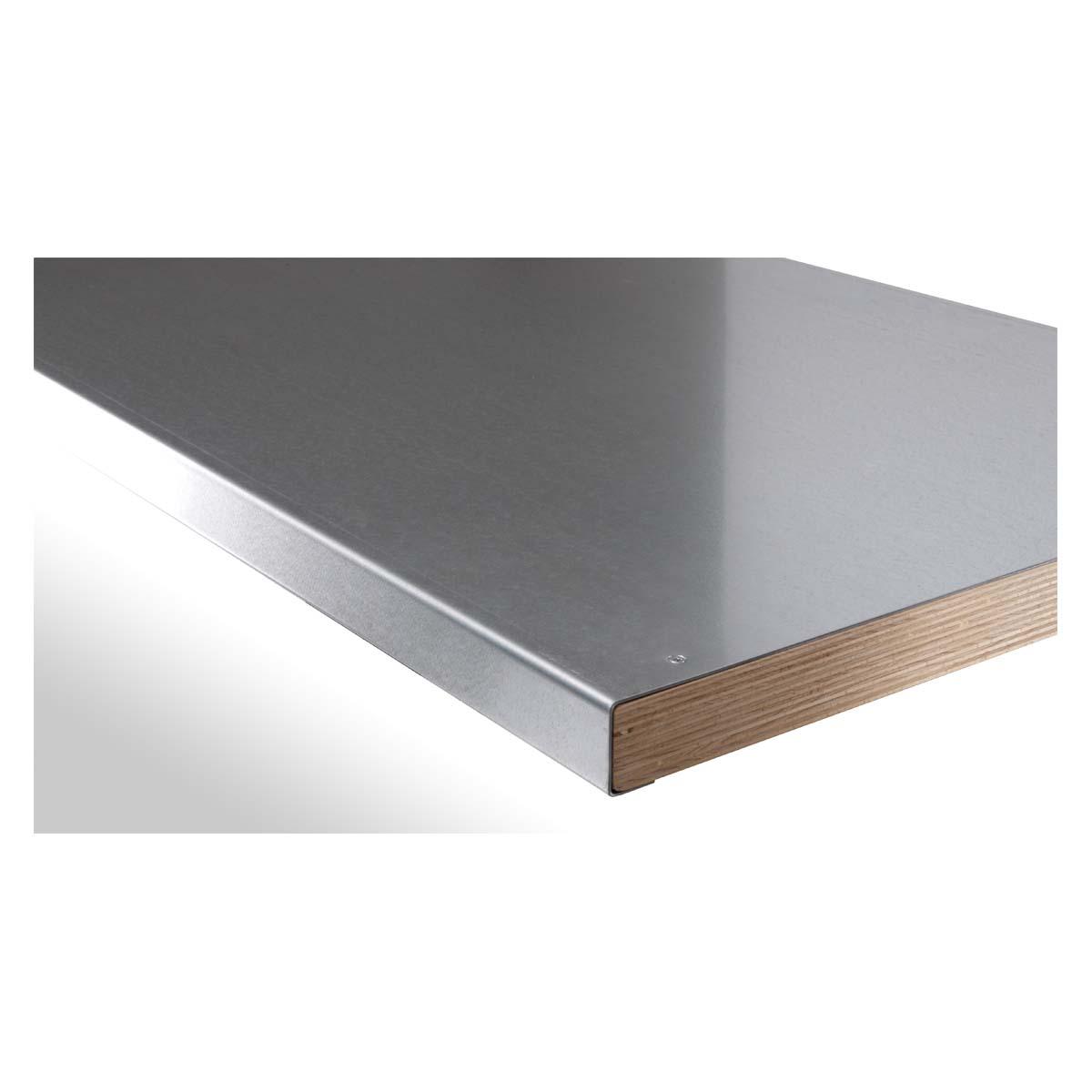 garant arbeitsplatte aus buche multiplex mit stahlblechbelag tiefe 700 mm 1500 mm garant. Black Bedroom Furniture Sets. Home Design Ideas